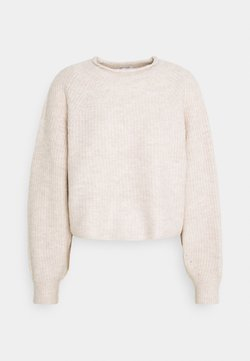 Topshop - ROLL CROP PINK - Strickpullover - neutral