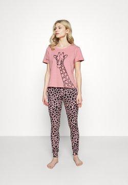 Boux Avenue - FLOCKED GIRAFFE TEE SET - Pyjama - dusky pink