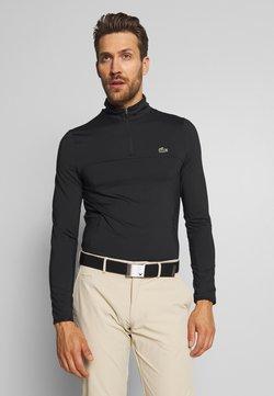 Lacoste Sport - QUARTER ZIP - Sportshirt - black
