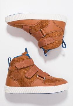 Palladium - PALLASTREET MID - Sneakers hoog - brown/snow blue/marshmellow