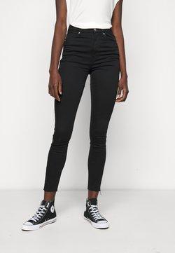 NA-KD Tall - HIGH WAIST RAW  - Jeans Skinny Fit - black
