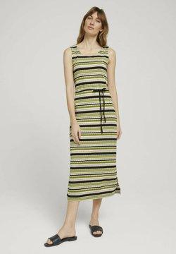 TOM TAILOR - Freizeitkleid - green multicolor stripe