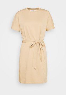NU-IN - CAP SLEEVE MINI DRESS - Jersey dress - beige
