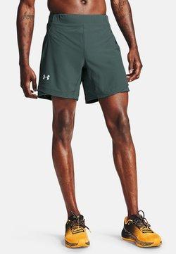 Under Armour - QUALIFIER SHORTS MIT SPEEDPOCKET - Pantalón corto de deporte - lichen blue