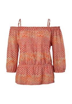 comma - Strickpullover - coral zic zac knit