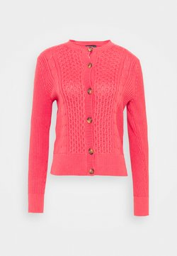 Marks & Spencer London - CUTE CABLE CARDI - Cardigan - pink