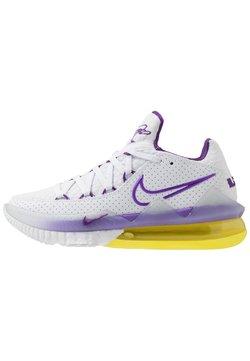 Nike Performance - LEBRON XVII LOW - Basketball shoes - white/voltage purple/dynamic yellow