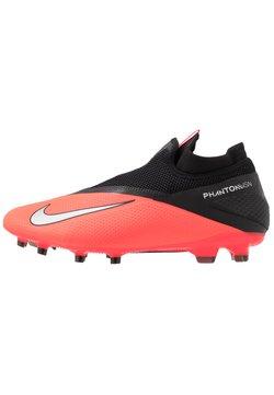Nike Performance - PHANTOM VISION 2 PRO DF FG - Moulded stud football boots - laser crimson/metallic silver/black