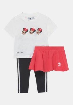 adidas Originals - MINNIE MOUSE SKIRT TEE SET - Leggings - white/pink/black