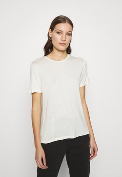 Zign - SILK MIX T-SHIRT  - T-shirt basic - offwhite