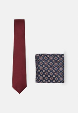 Burton Menswear London - EPP AND GEO SET - Krawatte - burgundy