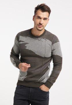 TUFFSKULL - Sweatshirt - oliv camouflage