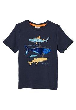 s.Oliver - MIT WENDEPAILLETTEN - T-Shirt print - dark blue