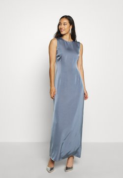 NA-KD - BACK DETAIL MAXI DRESS - Gallakjole - stone blue
