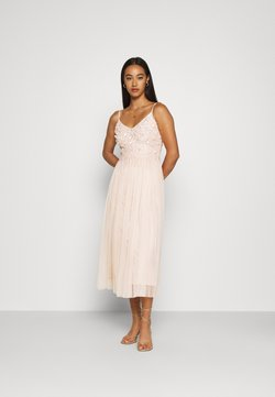 Lace & Beads - RIRI MIDI DRESS - Cocktailkleid/festliches Kleid - nude