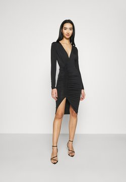 Nly by Nelly - PLUNGE RUCHED DRESS - Vestido ligero - black