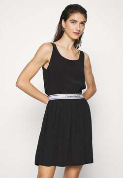 Calvin Klein Jeans - LOGO DRESS - Freizeitkleid - black