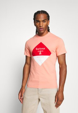 Barbour Beacon - DIAMOND TEE - T-shirt print - burnt coral