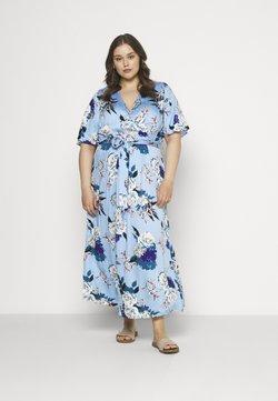 ONLY Carmakoma - CARFLONE BAT SLEEVE DRESS - Maxikjoler - placid blue