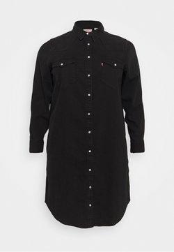 Levi's® Plus - WESTERN DRESS - Jeanskleid - black book