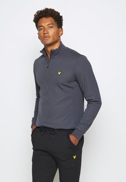 Lyle & Scott - WINDSHIELD 1/2 ZIP MIDLAYER - Sweatshirt - observer grey