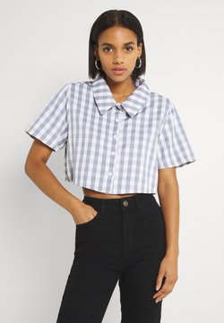 Missguided - CROPPED  - Bluse - blue
