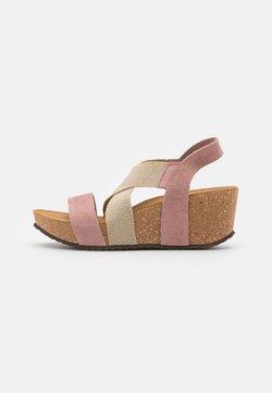 Copenhagen Shoes - STACIA - Plateausandaler - rose