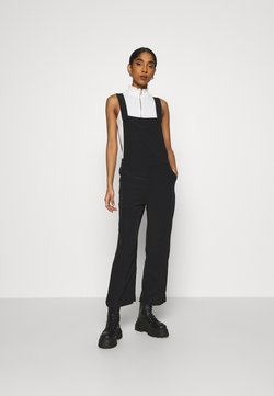 Monki - NESSA DUNGAREE - Dungarees - black dark svart