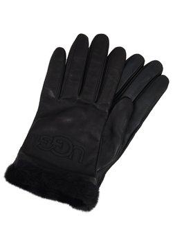 UGG - CLASSIC LOGO GLOVE  - Rękawiczki pięciopalcowe - black