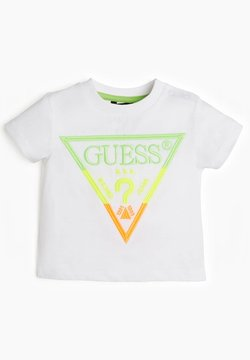 Guess - LOGO STICKEREI - T-shirt print - weiß