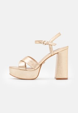 Office - HIGHLIGHT CROSS STRAP PLATFORM  - Sandalias con plataforma - gold