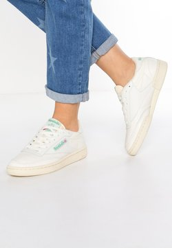 Reebok Classic - CLUB C 85 VINTAGE SOFT LEATHER SHOES - Matalavartiset tennarit - chalk/green/white/red