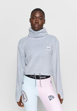 Eivy - PEG CROPPED - Fleecepullover - grey
