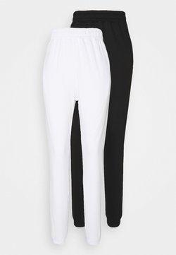 Missguided Tall - BASIC 2 PACK - Jogginghose - white/black