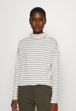 Kaffe - KALIDDY HIGH NECK - Long sleeved top - chalk/grey melange