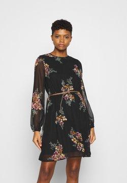 Vero Moda - VMNEWALLIE BELT SHORT DRESS - Sukienka letnia - black