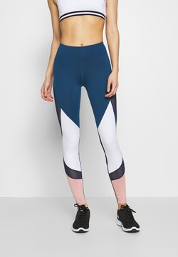 Even&Odd active - Tights - dark blue/pink/light grey