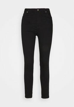 BLANCHE - JADE CROPPED LENGHT - Slim fit -farkut - black