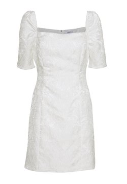Glamorous - BARDOT BROCADE MIDI DRESS - Cocktailkjole - white