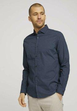 TOM TAILOR - Businesshemd - navy blue wave design