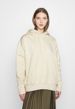 Weekday - ALISA HOODIE - Bluza z kapturem - light beige