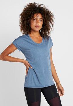 ASICS - CAPSLEEVE - T-Shirt print - mako blue heather