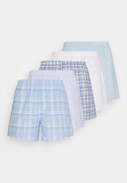Pier One - 5 PACK - Boxershorts - light blue/white