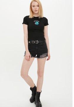 DeFacto - Jeansshort - black