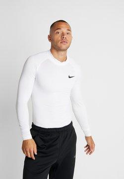 Nike Performance - PRO TIGHT MOCK - Tekninen urheilupaita - white/black
