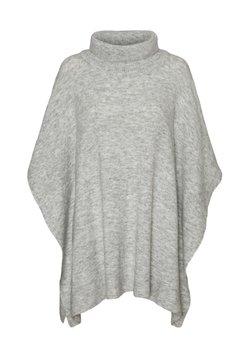 Vero Moda - VMKRISTINA PONCHO - Mantella - light grey melange