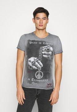 Key Largo - AWAKE - T-shirt print - anthracite