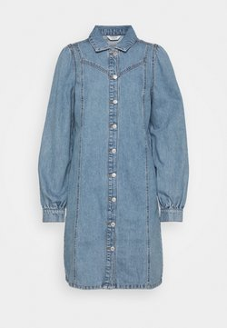 b.young - BYLYRA  - Denim dress - ligth blue denim