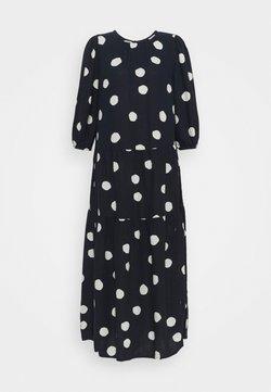 Marks & Spencer London - TIERED MIDI DRESS - Freizeitkleid - dark blue