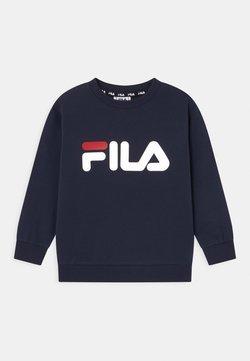 Fila - TIM LOGO CREW UNISEX - Sweater - dark blue